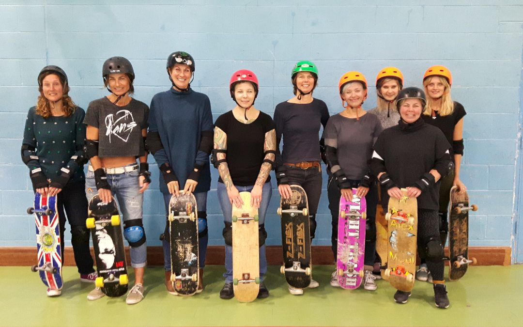 New time for ladies skateboarding