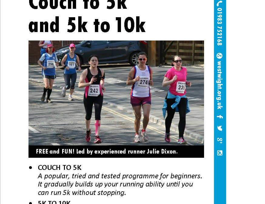 'Couch to 5K' and '5K to 10K' starts April 8th
