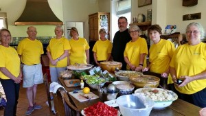 Volunteers prepared and served a buffet lunch for the West Wight Tennis tournament