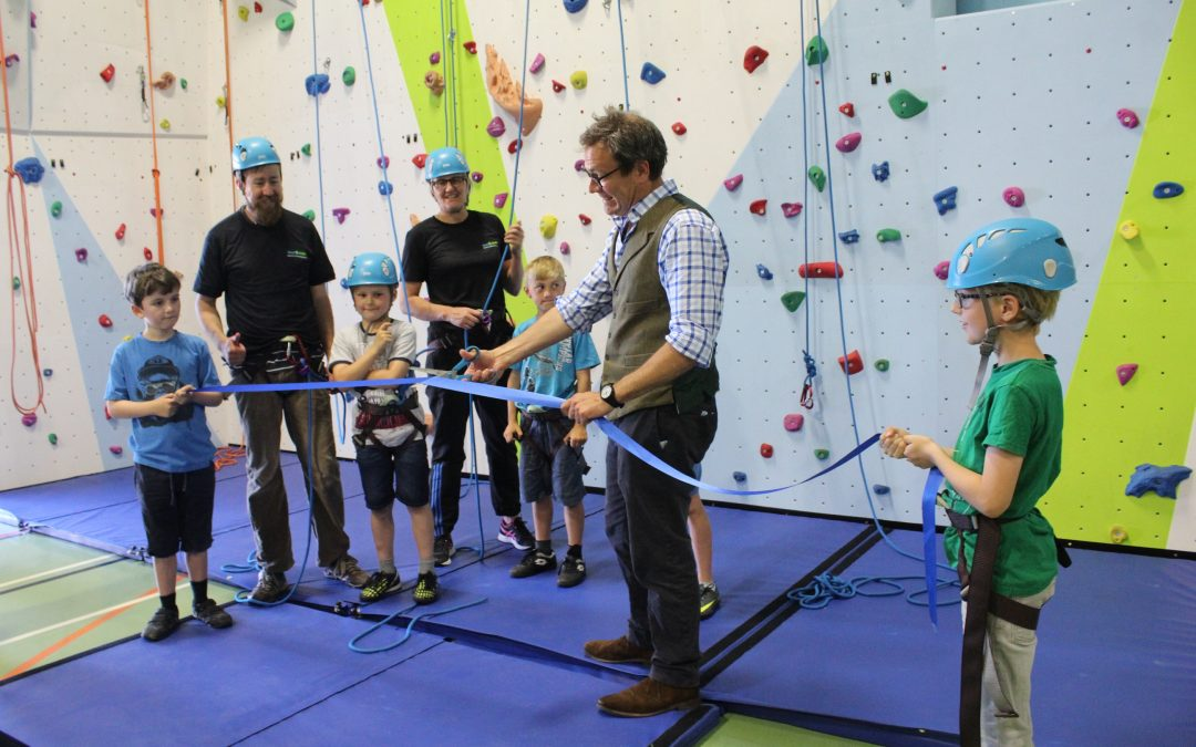 Climbing wall officially opened!