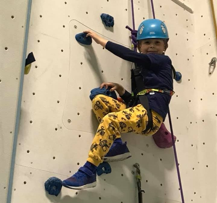Book now for children's climbing courses