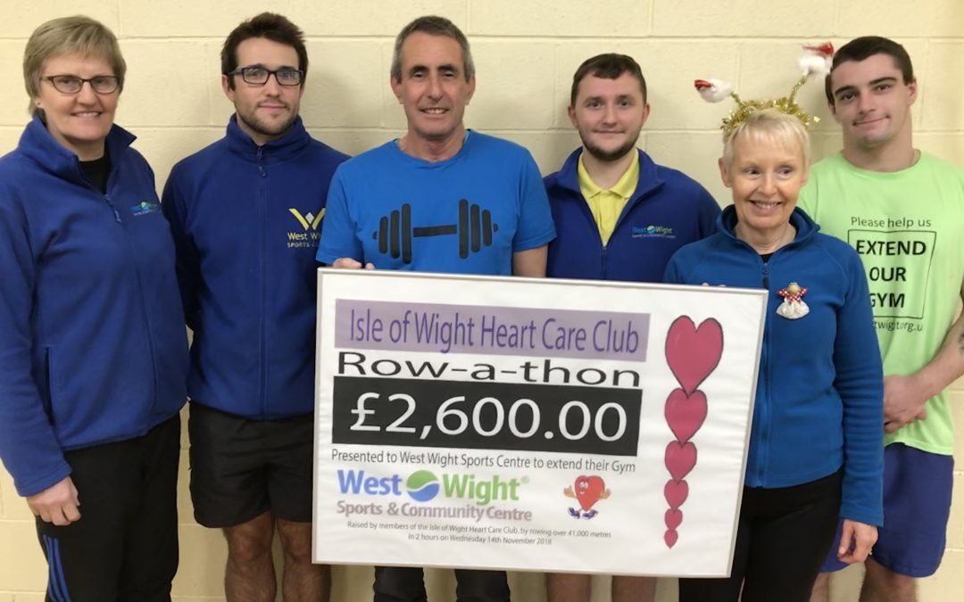 Isle of Wight Heart Care Club raise £2,600 for EXTEND OUR GYM