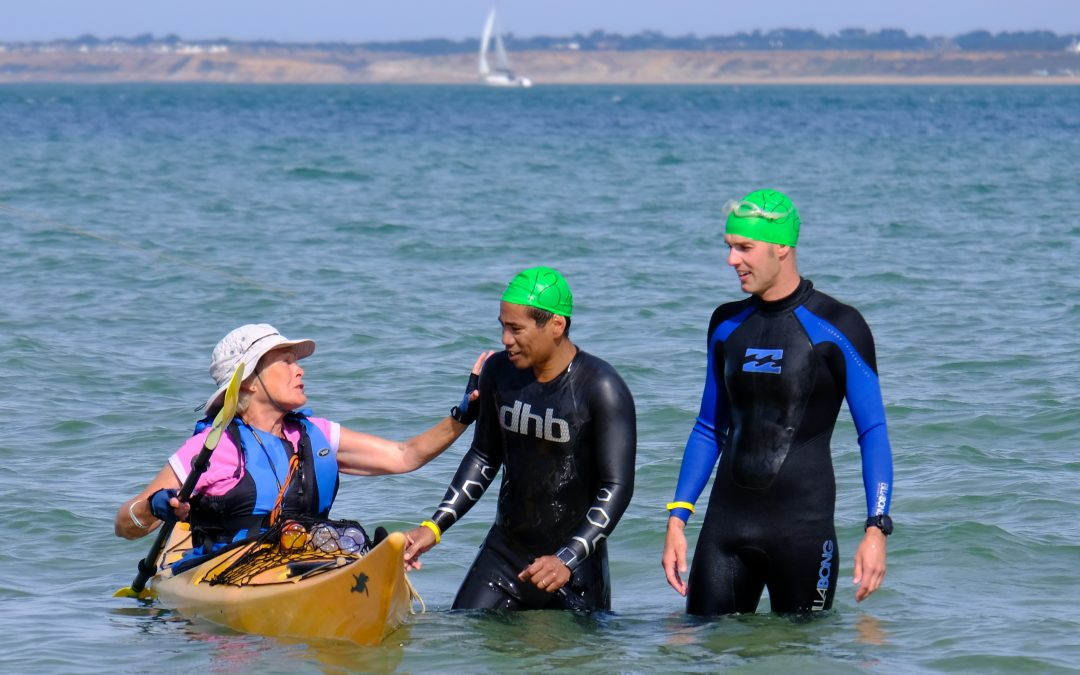 Solent Swim Kayakers