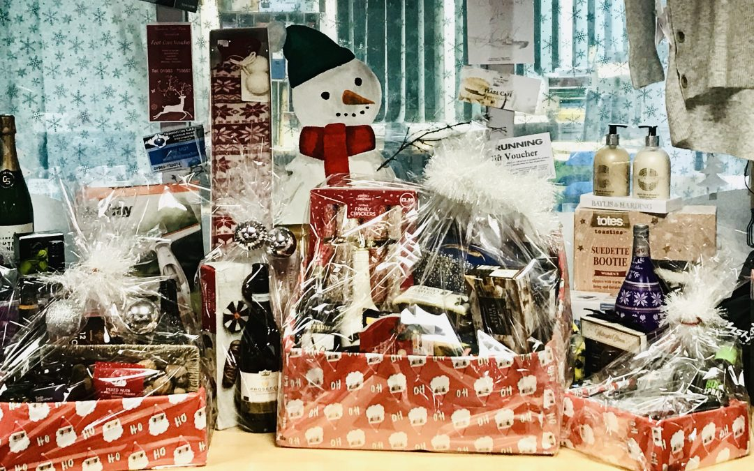 Great prizes in Christmas raffle