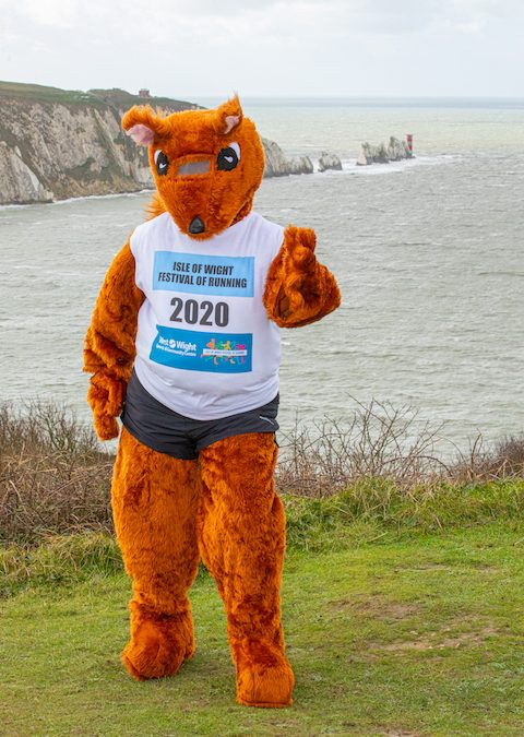Super Squirrel spotted at Alum Bay