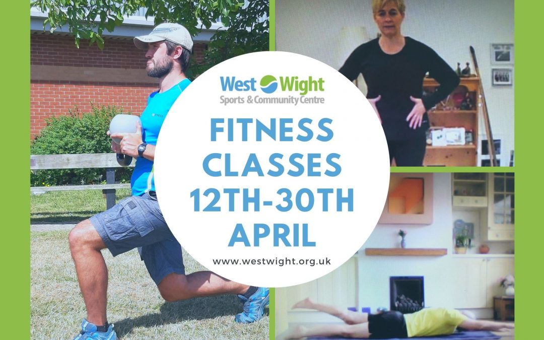 Adult Fitness Class Timetable – 12th-30th April 2021