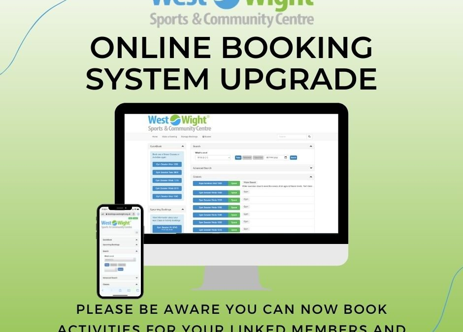 Online Booking System Upgrade