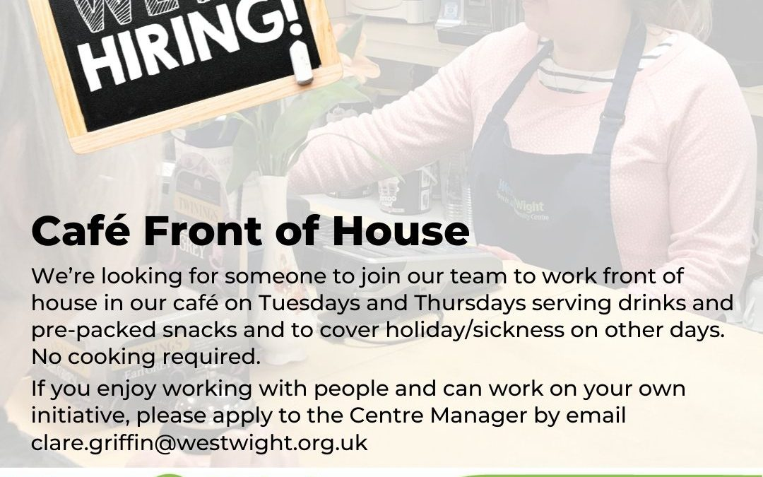 Join Our Team – Café Front of House